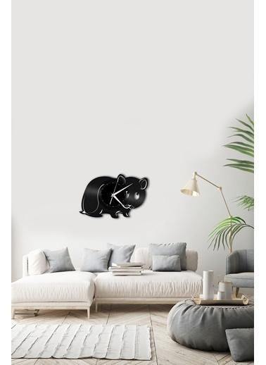 Angemiel Home HayvanPleksi Duvar Saati Siyah